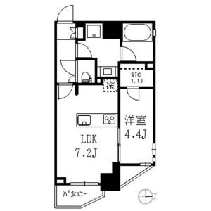 中野區野方-1LDK公寓大廈 房間格局