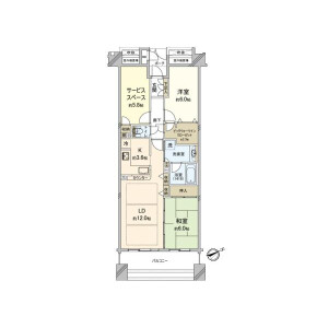 2SLDK {building type} in Kusunokicho - Yokohama-shi Nishi-ku Floorplan