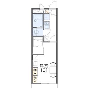 1K Apartment in Yabugaoka - Hirakata-shi Floorplan