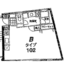 港區赤坂-1R公寓大廈 房間格局