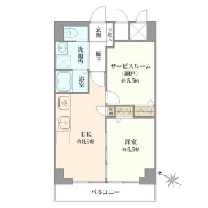 大田區池上-2DK{building type} 房間格局