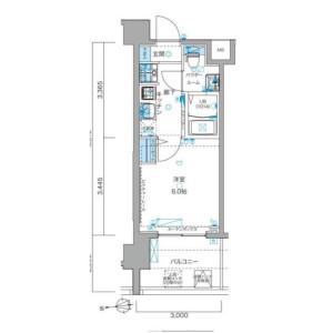 1K Mansion in Shirokanedai - Minato-ku Floorplan