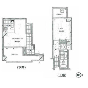 1LDK Apartment in Shibaura(2-4-chome) - Minato-ku Floorplan