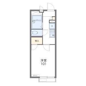 1K Apartment in Aihara - Sagamihara-shi Midori-ku Floorplan