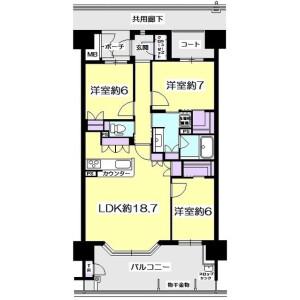 3LDK Apartment in Takamori - Sendai-shi Izumi-ku Floorplan