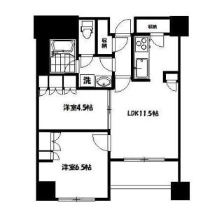 2LDK Mansion in Hatsudai - Shibuya-ku Floorplan