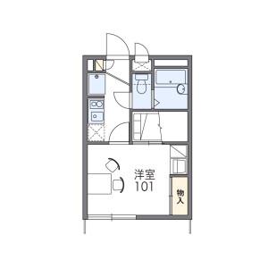 1K Apartment in Midorigaoka - Yachiyo-shi Floorplan