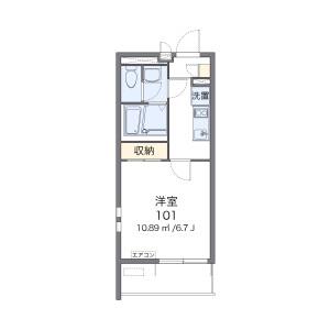 1K Mansion in Hiemachi - Fukuoka-shi Hakata-ku Floorplan