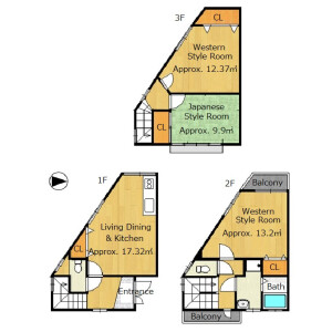 3LDK {building type} in Uzumasa hachiokacho - Kyoto-shi Ukyo-ku Floorplan