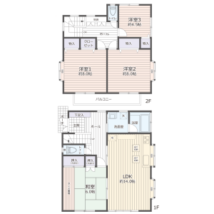 4LDK {building type} in Matsuki - Saitama-shi Midori-ku Floorplan