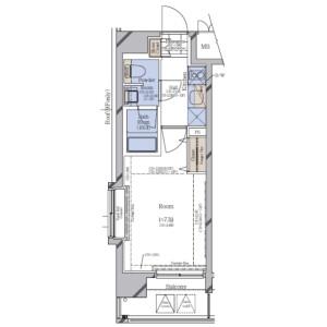 江东区枝川-1K公寓大厦 楼层布局