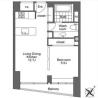 在港區內租賃1LDK 公寓大廈 的房產 房間格局