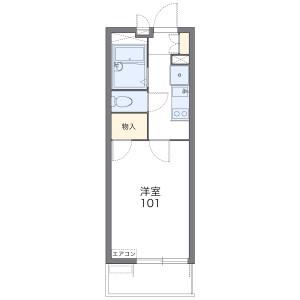 1K Mansion in Azumacho - Higashimatsuyama-shi Floorplan
