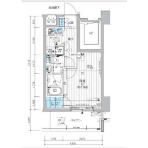1K Mansion in Shiba(4.5-chome) - Minato-ku Floorplan