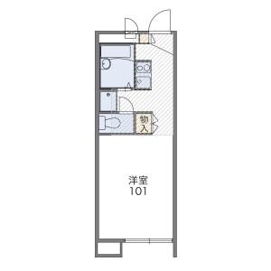 1K Mansion in Sakaecho - Kasukabe-shi Floorplan