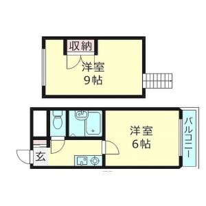 大阪市旭区中宮-2K公寓大厦 楼层布局