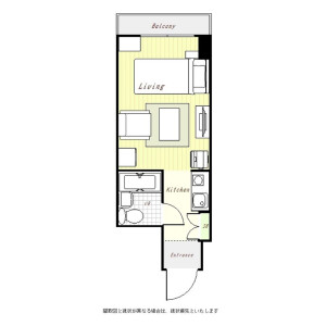 1R Mansion in Tsukiji - Chuo-ku Floorplan