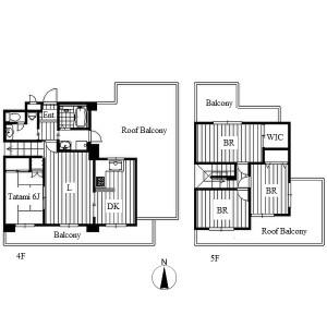 4LDK Apartment in Shintomicho - Nagoya-shi Nakamura-ku Floorplan