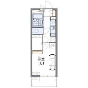 越谷市袋山-1K公寓 楼层布局