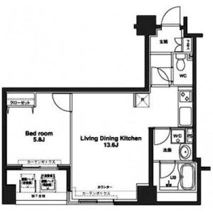 1LDK Mansion in Irifune - Chuo-ku Floorplan
