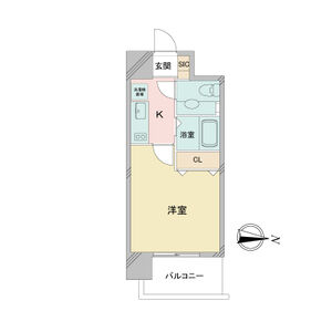 1K Mansion in Sanno - Nagoya-shi Nakagawa-ku Floorplan