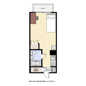 1R Mansion in Toranomon - Minato-ku Floorplan