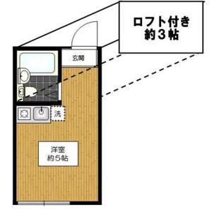 1R Apartment in Asagayaminami - Suginami-ku Floorplan