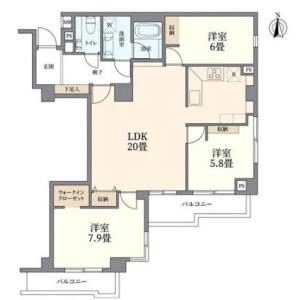 3LDK {building type} in Ichigayayakuojimachi - Shinjuku-ku Floorplan