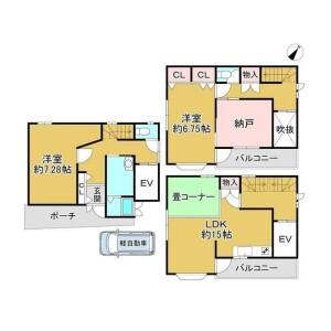 2SLDK {building type} in Kurotsuchicho - Sakai-shi Kita-ku Floorplan