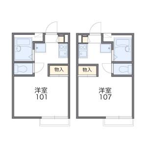 1K Apartment in Shukugawara - Kawasaki-shi Tama-ku Floorplan
