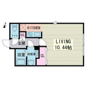 1R Mansion in Chuocho - Meguro-ku Floorplan