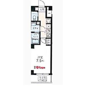 1K Mansion in Nihonzutsumi - Taito-ku Floorplan