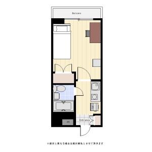 1R Mansion in Honda - Kokubunji-shi Floorplan