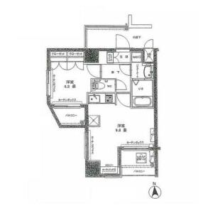 1DK Mansion in Shibakoen - Minato-ku Floorplan