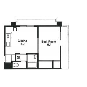 1DK Mansion in Aobadai - Meguro-ku Floorplan