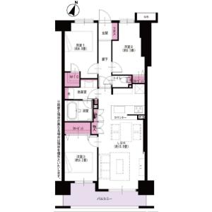 3LDK {building type} in Chuo - Yokohama-shi Nishi-ku Floorplan