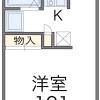 在豊中市内租赁1K 公寓大厦 的 楼层布局