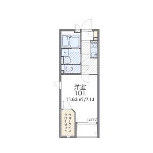 1K Mansion in Miyahana - Higashimatsuyama-shi Floorplan