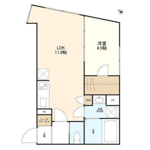 1LDK Apartment in Taishido - Setagaya-ku Floorplan