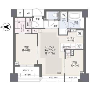 港區南青山-2LDK{building type} 房間格局