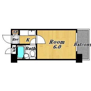 1K Apartment in Nozato - Osaka-shi Nishiyodogawa-ku Floorplan