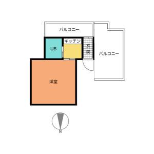 相模原市中央区清新-1K公寓大厦 楼层布局