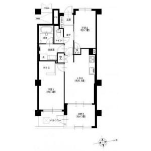 3LDK Apartment in Nakamagome - Ota-ku Floorplan