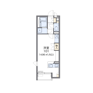 1R Apartment in Kuzuha(2.3-chome) - Kitakyushu-shi Moji-ku Floorplan