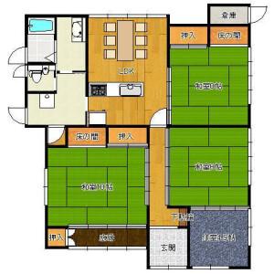 4LDK House in Ryoanji yamatacho - Kyoto-shi Ukyo-ku Floorplan