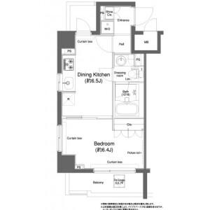 1DK Mansion in Kawadacho - Shinjuku-ku Floorplan