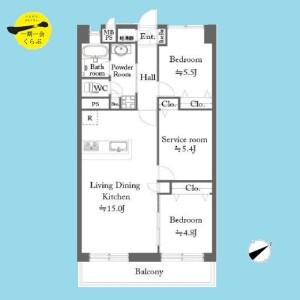 3LDK {building type} in Nishikasai - Edogawa-ku Floorplan