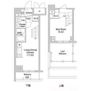 1LDK Mansion in Edagawa - Koto-ku Floorplan