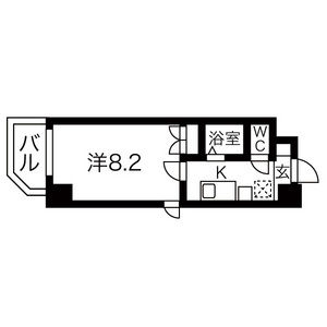 1K Mansion in Chiyoda - Nagoya-shi Naka-ku Floorplan