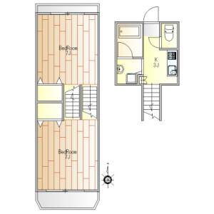 2K Mansion in Higashigaoka - Meguro-ku Floorplan
